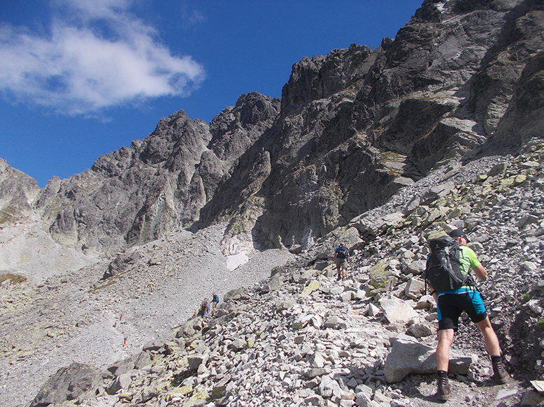 Aufstieg zum Sedlo Prielom, Hohe Tatrak, Slowakei